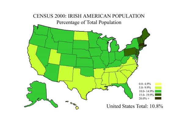 Irish American Map